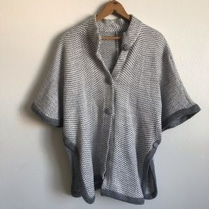 Vintage soft gray knit overcoat sweater